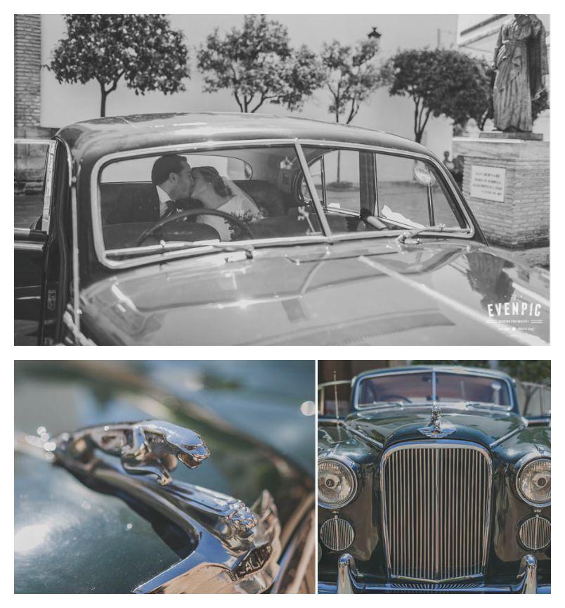 conbmayuscula coche boda s&S la meridiana