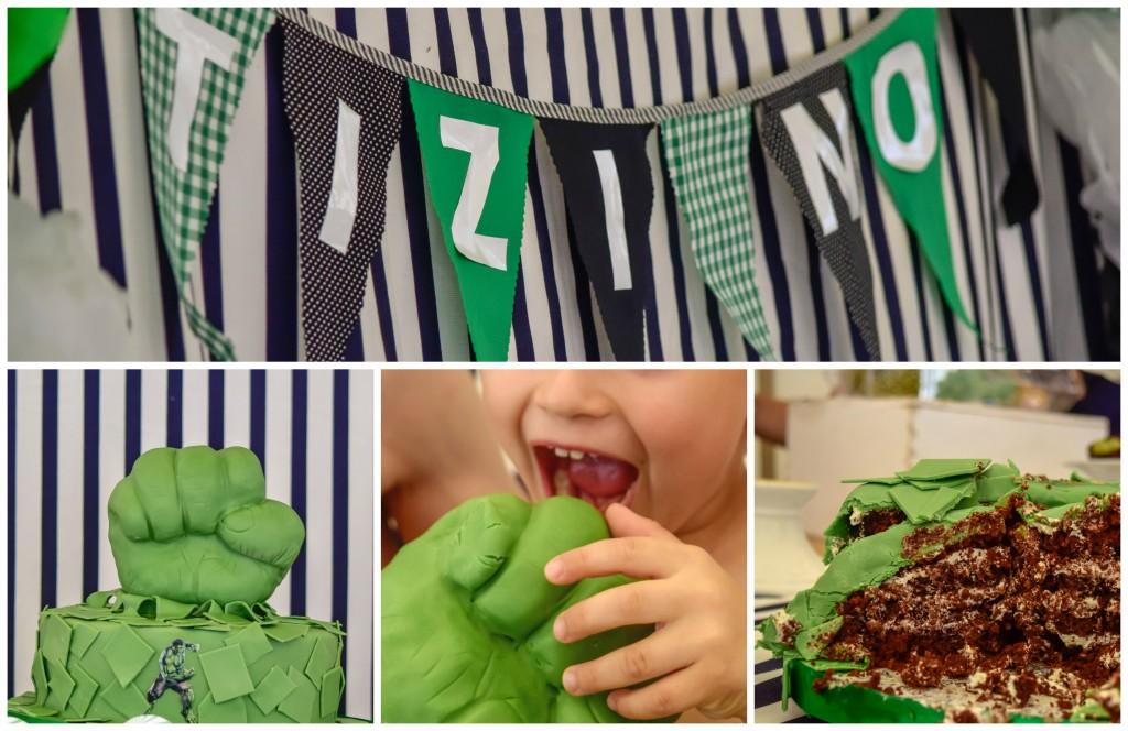 conbmayuscula cumpleaños Hulk tarta